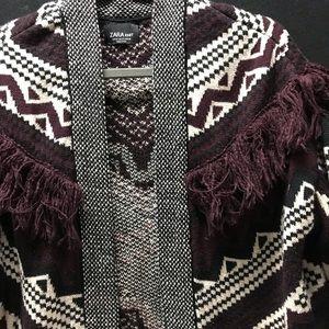 Zara Sweaters - Zara Knit Fringe Sweater